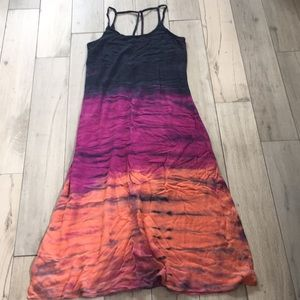 Hard tail tie dyed maxi dress